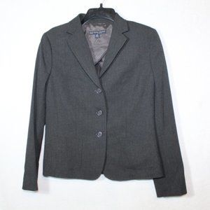 346 Brooks Brothers gray button front blazer 8P
